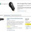 [Offre Alerte] Best Buy en ligne a le Chromecast à 29,99 $ Encore une fois, plus 20 $ de crédit Google Play Store